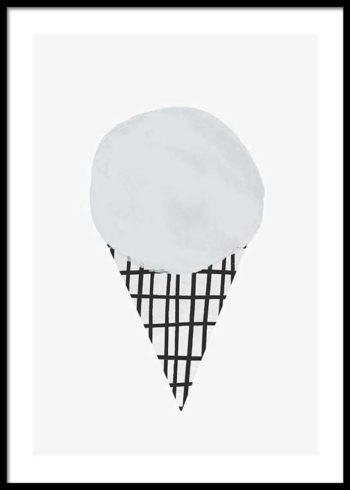 WATERCOLOR ICE CREAM PLAKAT
