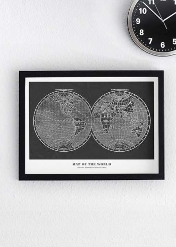 MAP OF THE WORLD PLAKAT
